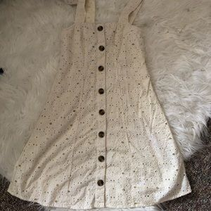 American Eagle Lace Button up dress
